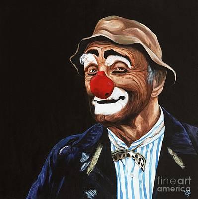Klown Painting - Senor Billy The Hobo Clown by Patty Vicknair