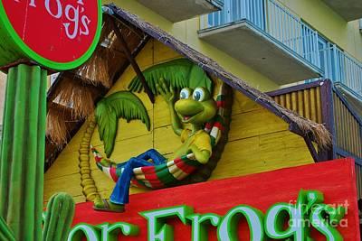 A Happy Senor Frog In Nassau Print by Bob Sample