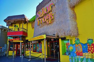 Senor Frogs Myrtle Beach Store Front Print by Bob Sample