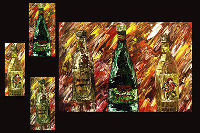 Wine Painting - Sensual Explosion Collage 1 by Mark Moore