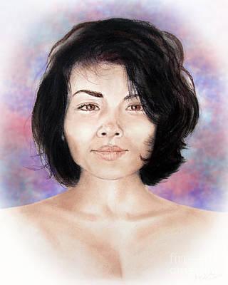 Filipina Drawing - Sensual Filipina Beauty  by Jim Fitzpatrick