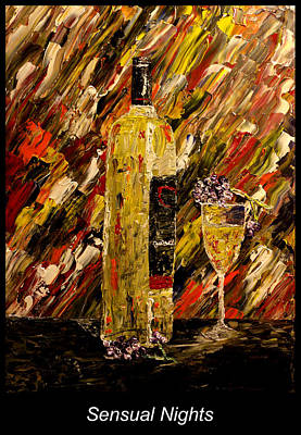 Mark Moore Painting - Sensual Nights Named by Mark Moore