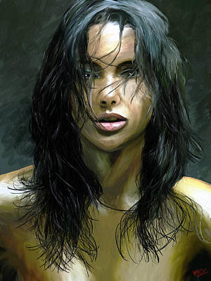 Male Portraits Digital Art - Sensuality by James Shepherd