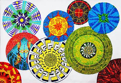Morph Painting - Sentient Mandalas by Maxwell Hanson