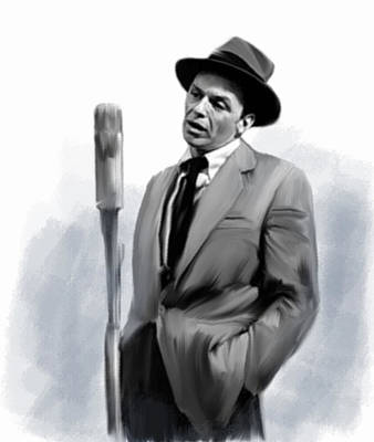 Frank Sinatra Drawing - Sentimental Bliss Frank Sinatra by Iconic Images Art Gallery David Pucciarelli