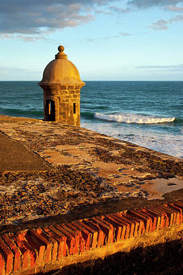 Sentry Photograph - Sentry Box On El Morro Fort Overlooking by Brian Jannsen