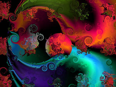 Abstract Digital Digital Art - Seperation And Individuation by Claude McCoy