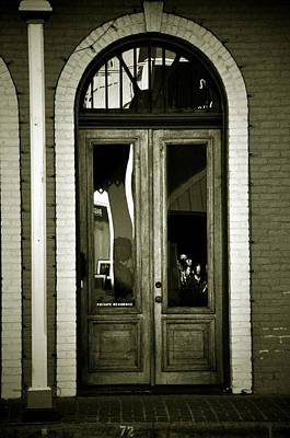 Sepia Door Print by Cherie Haines