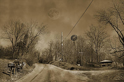 Mind Photograph - Sepia Oz by Betsy Knapp