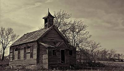 Abandoned Photograph - Sepia School  by Miss Judith
