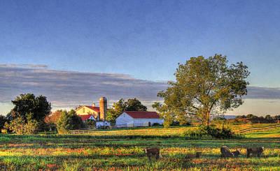 Pennsylvania Barns Digital Art - September Morning by Sharon Batdorf