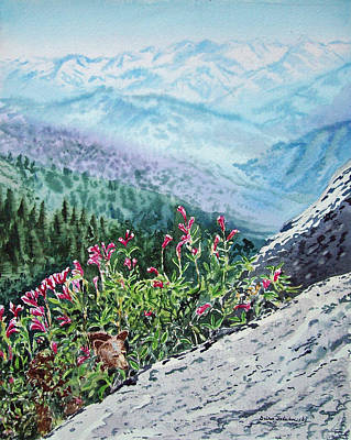 Snowy Mountains Painting - Sequoia National Park by Irina Sztukowski