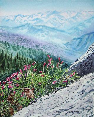 Beautiful Mountains Painting - Sequoia National Park by Irina Sztukowski