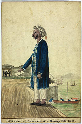 Serang Of A Bombay Pilot Boat Print by British Library