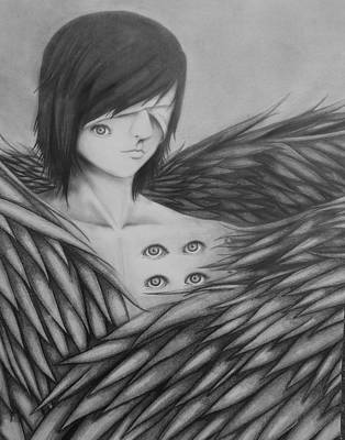 Revelation Drawing - Seraphim by Rachel Hayes