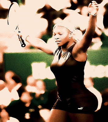 Serena Williams Catsuit IIi Print by Brian Reaves
