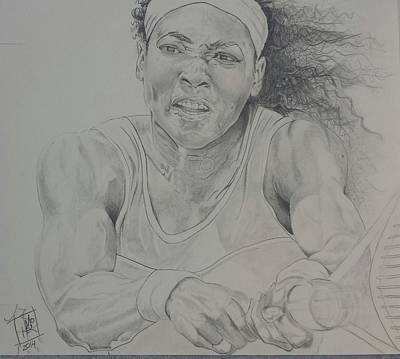Serena Williams Drawing - Serena Williams by DMo Herr
