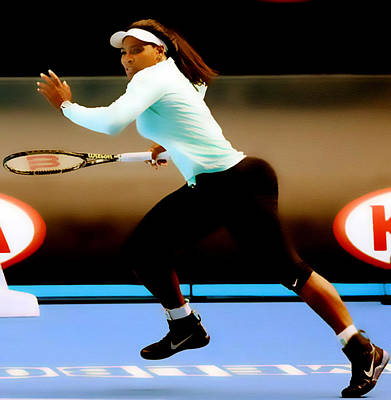 Serena Williams Digital Art - Serena Williams Extended by Brian Reaves