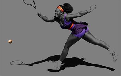 Venus Williams Digital Art - Serena Williams Getting It Done by Brian Reaves