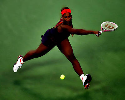 Serena Williams On Point Print by Brian Reaves
