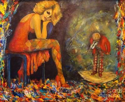 Painted Ladies Painting - Sonata by Dagmar Helbig
