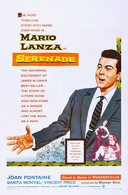 Serenade, Us Poster Art, Mario Lanza Print by Everett