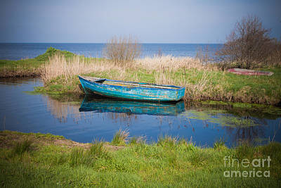 Serene Lough Neagh Print by Barry McQueen