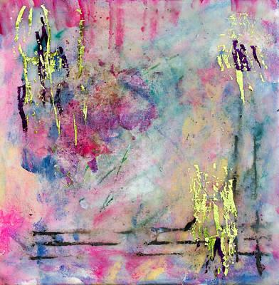 Handmade Paper Mixed Media - Serene Mist Encaustic by Bellesouth Studio