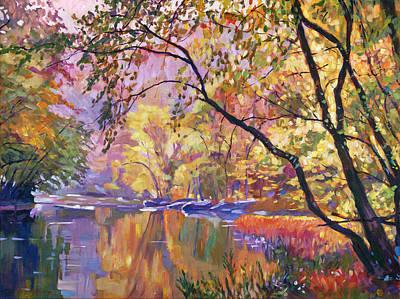 Serene Reflections Original by David Lloyd Glover