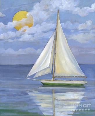 Sailboat Ocean Painting - Serene Sailboat II by Paul Brent
