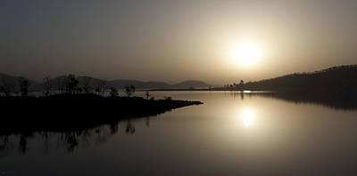 Serene Sunrise Print by Vinod Chauhan