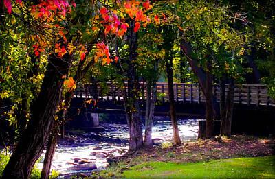 Babbling Photograph - Serenity Bridge by Karen Wiles