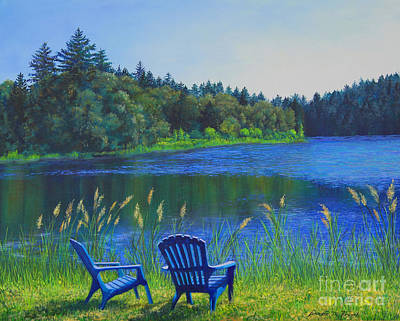Serenity Oregon Painting - Serenity by Jeanette French