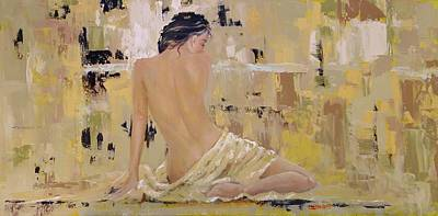 Reclining Woman Painting - Serenity by Laura Lee Zanghetti