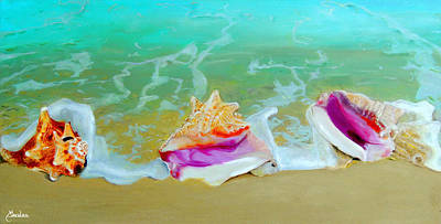 Beach Painting - Serenity by Maritza Tynes