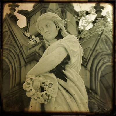 Graveyard Digital Art - Serenity Now by Gothicolors Donna Snyder