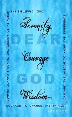Serenity Prayer Dear God Print by Margaret Newcomb