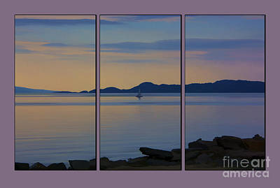 Tryptych Photograph - Serenity Tryptych by Chris Thaxter