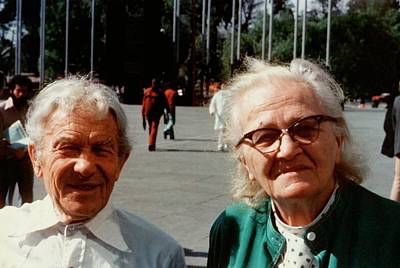 Sergei And Cecilia Gaposchkin Print by Emilio Segre Visual Archives/american Institute Of Physics