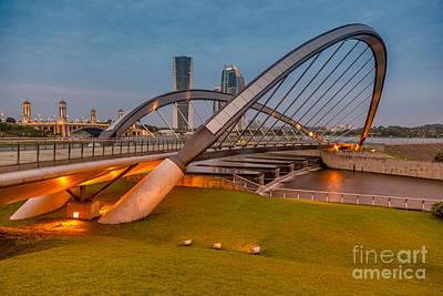 Malaysia Digital Art - Seri Empangan Bridge by Adrian Evans