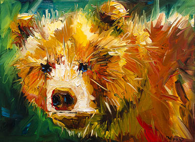 Painting - Serious Bear by Diane Whitehead