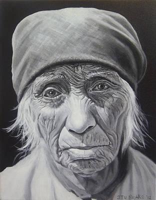 Native American Painting - Serrano Woman by Stu Braks