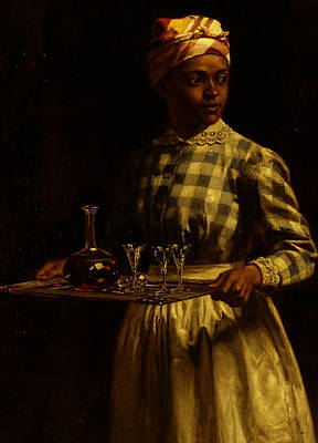 Wine Service Painting - Serving Maid by Thomas Waterman Wood