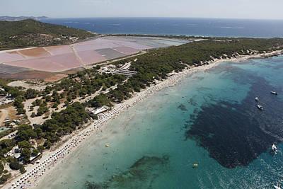 Ses Salines Beach And Salterns, Ibiza Print by Xavier Durán