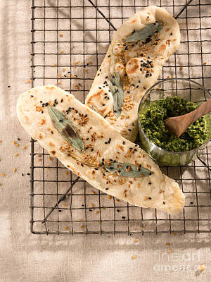Owner Photograph - Sesameseed And Sage Flatbread by Iris Richardson