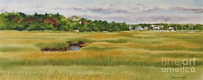 Sesuit Harbor Marshside Print by Karol Wyckoff