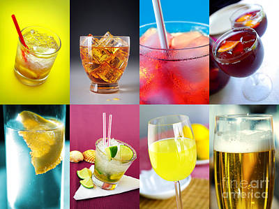 Booze Photograph - Set Of Drinks by Carlos Caetano
