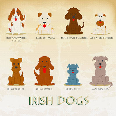 Set Of Irish Dogs Original by Don Kuing
