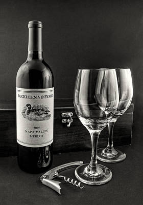 Vino Photograph - Setting For Two by Jeff Burton