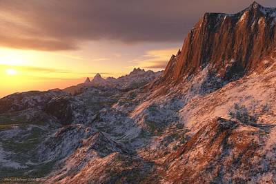 Setting Sun In The High Country Print by Michael Wimer